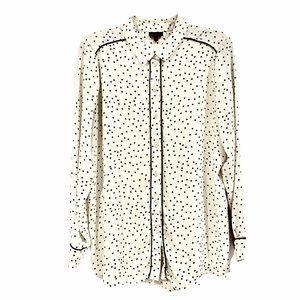 Who What Wear Polka Dot Button Down Blouse sz XXL